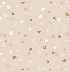 seamless beige ink dots pattern grunge vector image