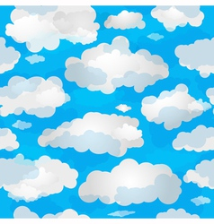 Spring seamless pattern with clouds vector
