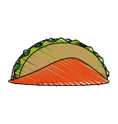 tacos food doodle vector image