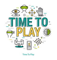 time to play - line concept vector image vector image