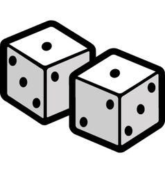 Two dice vector image vector image