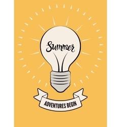 Typographic retro summer poster vector