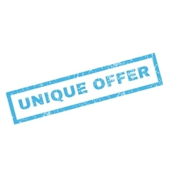 Unique offer rubber stamp vector