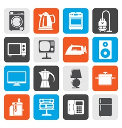 Flat home equipment icons vector