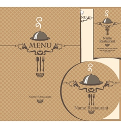 tray menu vector image