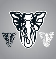 elephant head design logo vector image