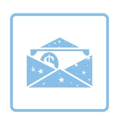 Birthday gift envelop icon with money vector