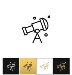 Telescope or astronomy sky looking icon vector