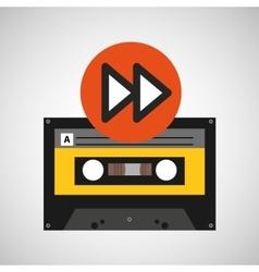 Forward music cassette tape vector