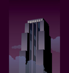 art deco tower vector image