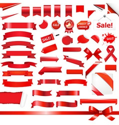 Big Red Set vector image