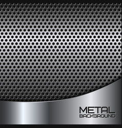 Abstract metal background with perforation vector