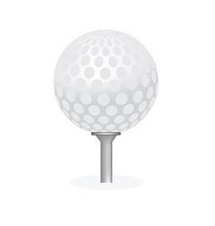 Golf ball on tee isolated vector