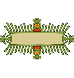 green gear frame vector image