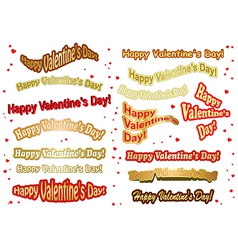 Set of stickers for valentine day vector