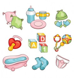 Set of baby things vector