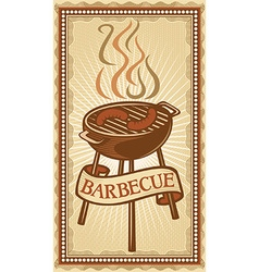 Barbeque design element vector