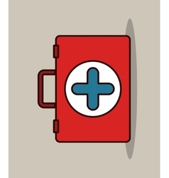 Medical kit design vector