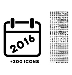 2016 binder icon vector