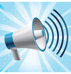 icon megaphone - communication concept vector image