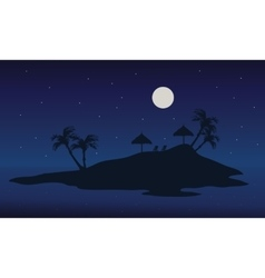 At night islands scenery summer backgrounds vector