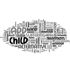 Add alternative treatments text word cloud concept vector