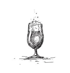 beer glass icon sketch mug oktoberfest festival vector image