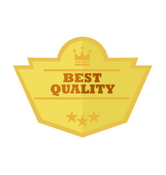 Best quality gold custom shape vintage badge vector