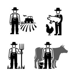 black farmer vector image vector image