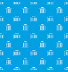 briefcase pattern seamless blue vector image
