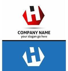 Elegant graphic alphabet symbol letter h vector