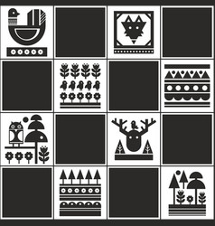 Endless pattern with scandinavian style vector