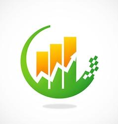 finance graph arrow logo vector image vector image