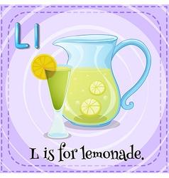 Flashcard letter L is for lemonade vector image vector image