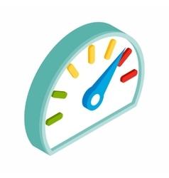 Fuel gauge isometric 3d icon vector