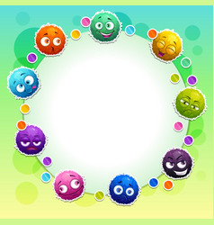 Funny childish banner with cute colorful fluffy vector