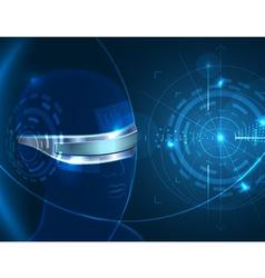 Futuristic Glasses vector image