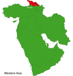 Georgia map vector image