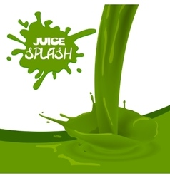 Green apple kiwi juice vector