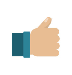 hand thumb up like symbol vector image