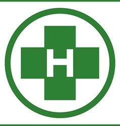Helipad in green color vector image vector image