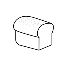 Line delicious slice bread food nutrition vector