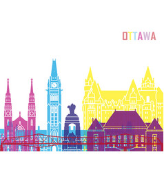 Ottawa v2 skyline pop vector