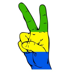 Peace sign of the flag of the gabon vector