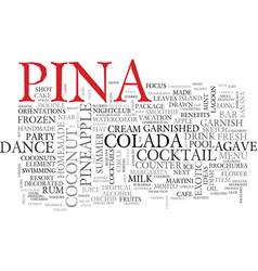 Pina word cloud concept vector