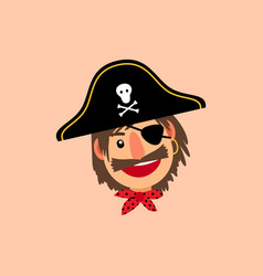 Pirate head icon vector