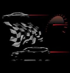 racing design elements vector image vector image
