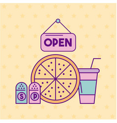 Restaurant delicious fast food vector