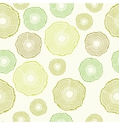 Seamless Tree rings pattern vector image