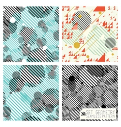 Set geometric pattern vector image